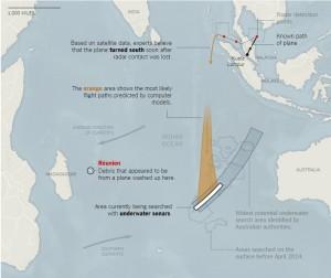 """Aereo Malaysia MH370: ammarato, non precipitato. Ecco la """"rotta"""" del relitto, dall'Australia al Madagascar"""