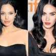 Donne, viso perfetto: metà Angelina Jolie, metà Megan Fox