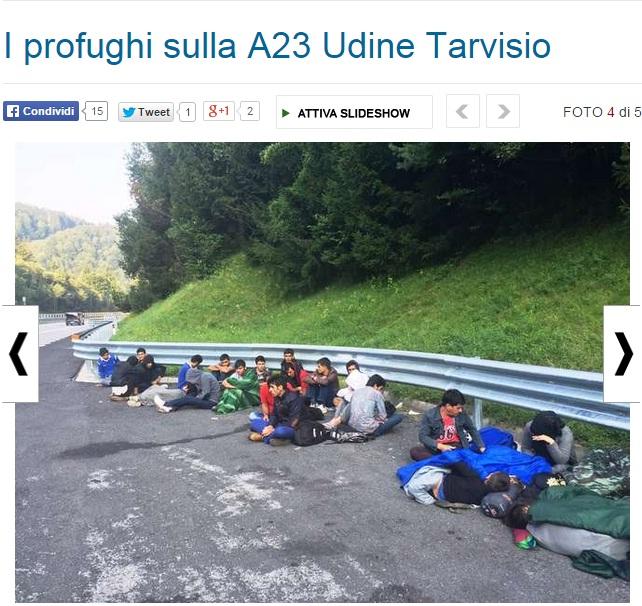 Udine, clandestini afgani vagano in autostrada sulla A23