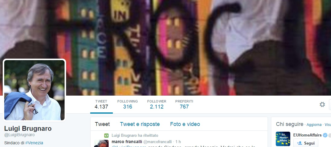 Luigi Brugnaro, su Twitter mette la foto omofoba su Mika