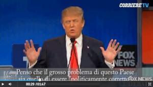 Donald Trump durante il dibattito televisivo