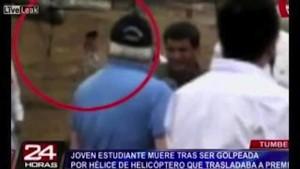 Perù, donna decapitata da elicottero presidenziale in diretta tv