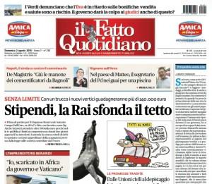 """Marco Travaglio sul Fatto Quotidiano: """"Il trapezista senza rete"""""""