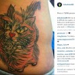 Federica Pellegrini tatuaggio per Mafalda, sua gatta morta