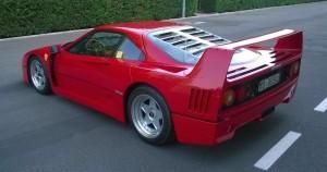 Ferrari F40, asta record: modello del 1992 venduto per 1,12 milioni di euro