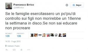 Gallipoli: Francesco Errico si dimette da sindaco. Di Lorenzo Toma ha detto...