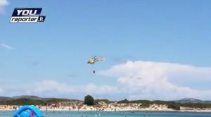VIDEO Youreporter - San Teodoro fuoco sulle vacanze: sgomberati due villaggi turistici