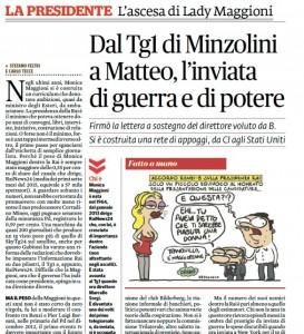 Monica Maggioni: dal Tg1 di Minzolini a Renzi, l'inviata di guerra e di potere