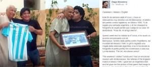 """Maradona ritrova l'arbitro tunisino de """"la Mano de Dios"""""""