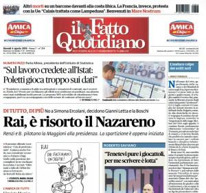 """Marco Travaglio sul Fatto Quotidiano: """"L'audace colpo dei soliti noti"""""""
