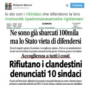 """Brescia: 10 sindaci """"no migranti"""" rischiano denuncia"""