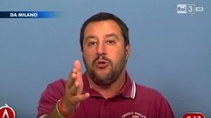 Lo scontro tra Matteo Salvini e Vauro