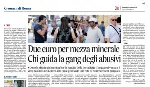 L'articolo di Elena Panarella del Messaggero