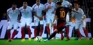 VIDEO YouTube - Messi, punizione secondo col contro Siviglia
