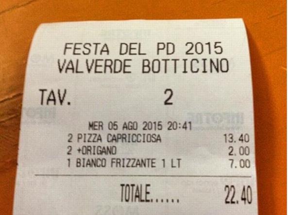 Brescia, alla festa Pd l'aggiunta di origano sulla pizza costa un euro FOTO