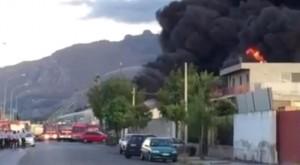 VIDEO YouTube - Incendio in deposito di carburante a Palermo