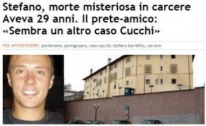 """Stefano Borriello morto in carcere. Prete: """"Cucchi bis?"""""""