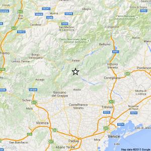 Terremoto tra Belluno e Treviso, scossa di magnitudo 3.7