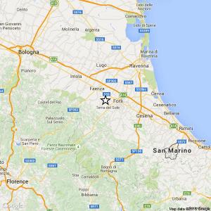 Terremoto vicino Forlì: scossa di magnitudo 3,5