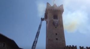 VIDEO YouTube - Trento: incendio torre civica. Spento dopo poche ore