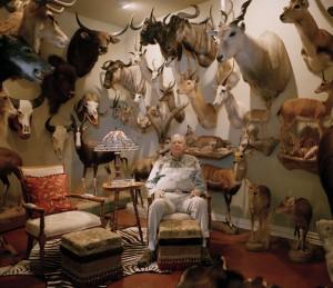 Un collezionista di trofei di caccia