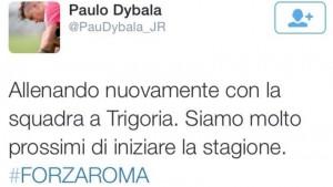 Il tweet di Dybala