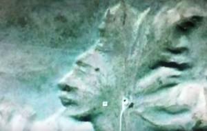 VIDEO Youtube - Volto alieno nella roccia o illusione ottica?