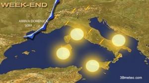 Meteo week end: sole quasi ovunque, piogge da lunedì