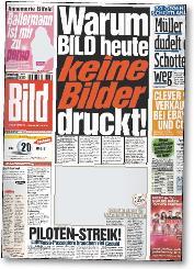 Bild Zeitung, il giornale tedesco esce senza foto perché...