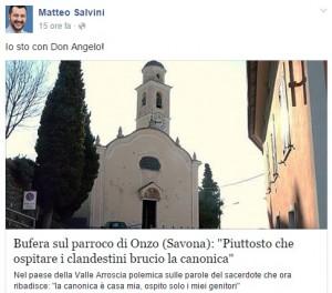Il post di Matteo Salvini su Facebook
