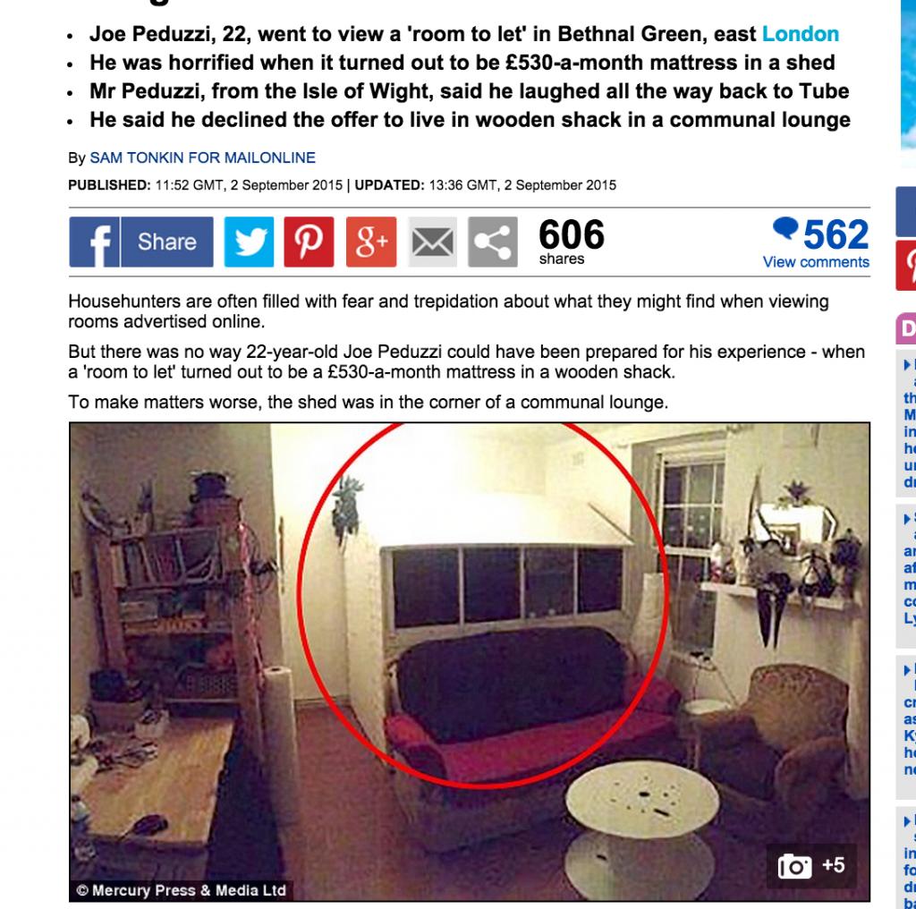 """Affittasi camera, 800 € mese"". Arriva a Londra e scopre..."