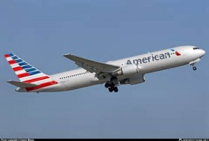 Un aereo dell' American Airlines