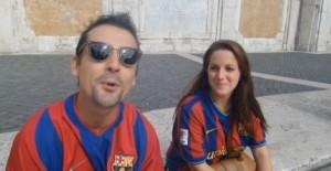 Roma-Barcellona, tifosi blaugrana colorano Capitale VIDEO