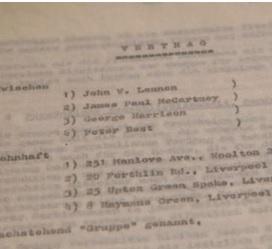 Beatles, primo contratto discografico all'asta per 93mila $