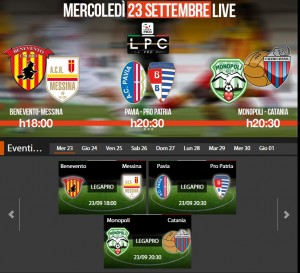 Benevento-Messina: streaming diretta Sportube tv, ecco come vederla