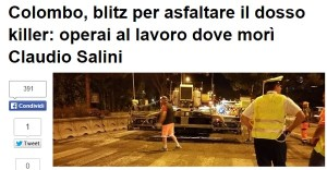 Buco uccise industriale Salini? Comune Roma lo cancella...
