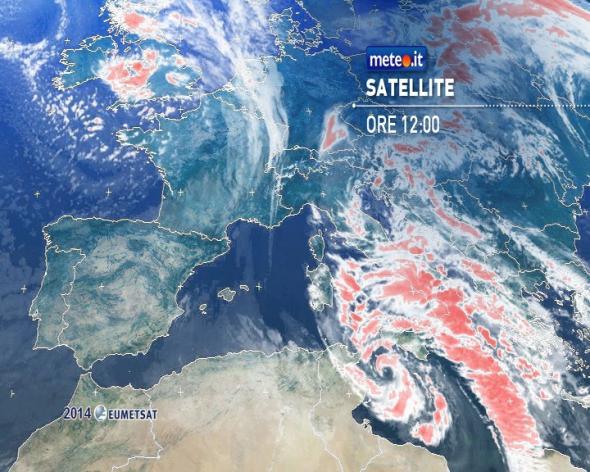 Meteo: allerta ciclone in Sardegna e Sicilia