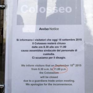Colosseo chiuso, governo protesta. Sindacato rilancia: Sciopero