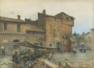 Roma com'era. In mostra acquarelli di Ettore Roesler Franz