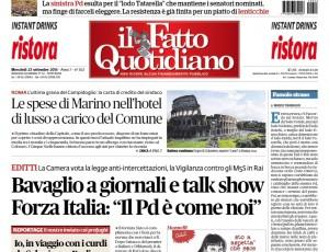 """Marco Travaglio sul Fatto Quotidiano: """"Famolo strano"""""""