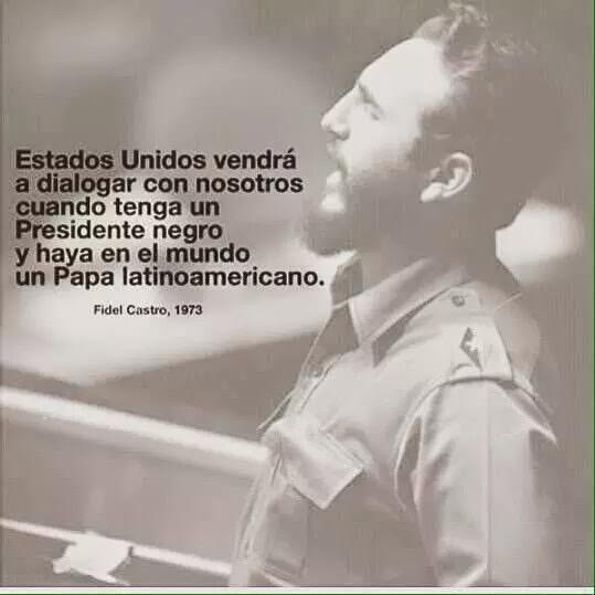 """Fidel Castro: """"Quando presidente Usa nero e Papa latino..."""""""