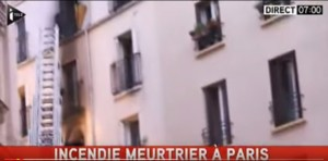 Video YouTube: incendio Parigi, 8 morti, 2 sono bambini