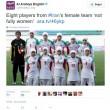 Iran, nazionale di calcio femminile...con 8 uomini FOTO