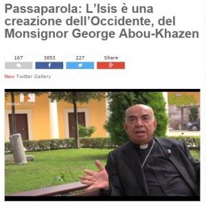 """Blog Beppe Grillo: """"Isis invenzione dell'Occidente"""""""