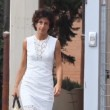 VIDEO Agnese Landini in elegante abito bianco