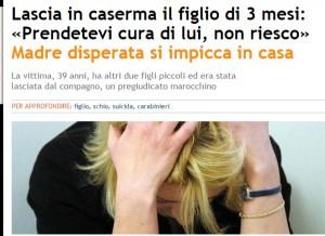 Schio, lascia figlio ai carabinieri poi si impicca in casa
