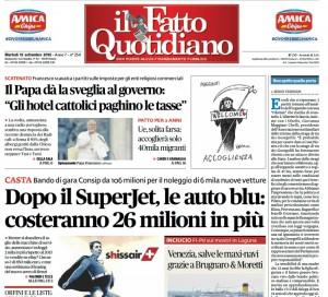 """Marco Travaglio sul Fatto Quotidiano: """"Non aprite quella porta"""""""