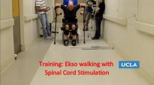 VIDEO YouTube-Paralizzato torna a camminare con esoscheletro
