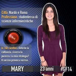 Mary Falconieri, prima concorrente del Grande Fratello 14