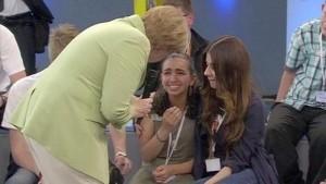 Merkel bimba palestinese